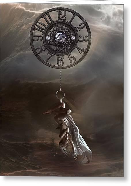 Pendulum Greeting Card by Mary Hood