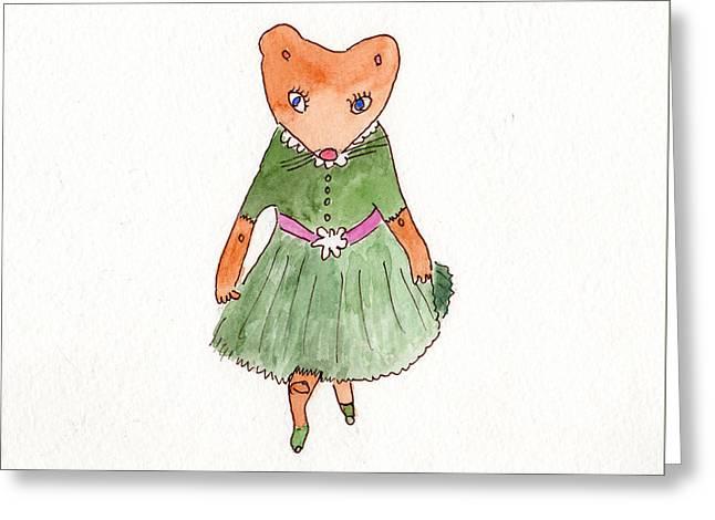 Penelope Curtsies Greeting Card