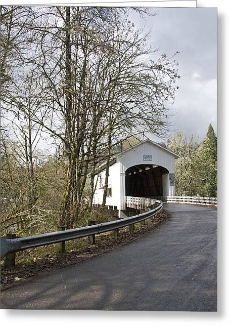 Pengra Covered Bridge Greeting Card by John Higby