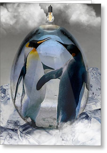 Penguin Art Greeting Card