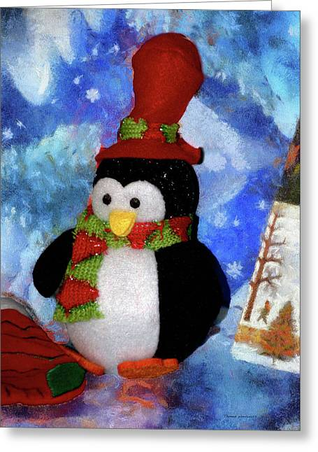 Penguin Pa 02 Greeting Card by Thomas Woolworth