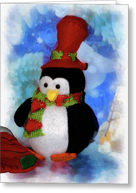 Penguin Pa 03 Greeting Card by Thomas Woolworth