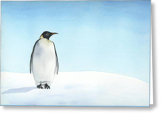 Penguin Watercolor Greeting Card