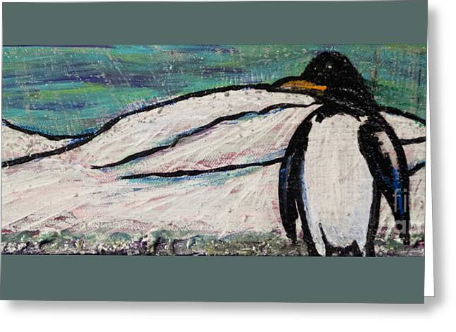 Penguino Greeting Card by Becca Lynn Weeks