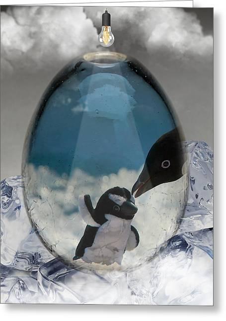 Penguins Art Greeting Card