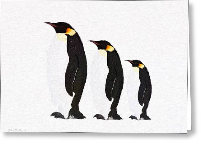 Penguins Family  Greeting Card