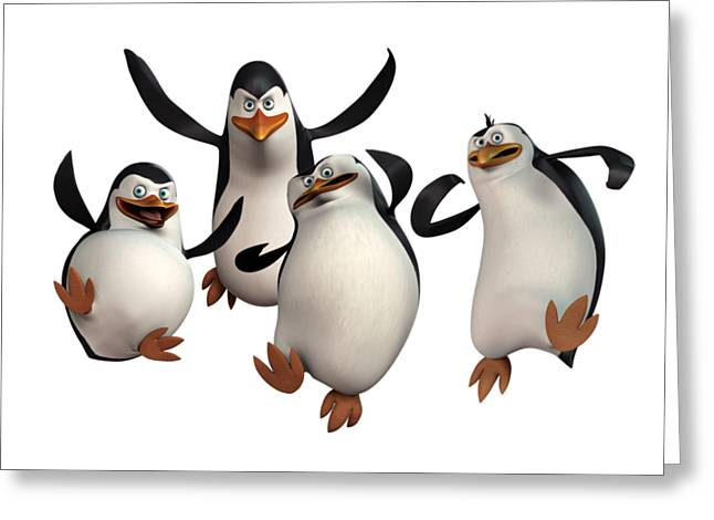 Penguins Of Madagascar 2 Greeting Card by Movie Poster Prints