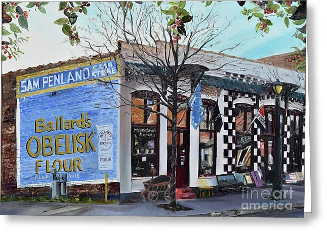 Greeting Card featuring the painting Penland Bros Store - Ellijay Georgia - Historical Building by Jan Dappen