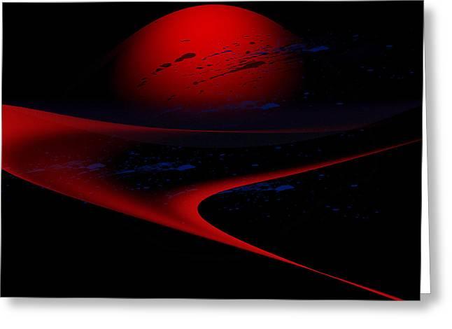 Penman Original-347 Cosmic Curve Greeting Card