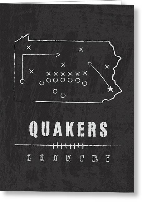 Penn Quakers Country Greeting Card by Damon Gray