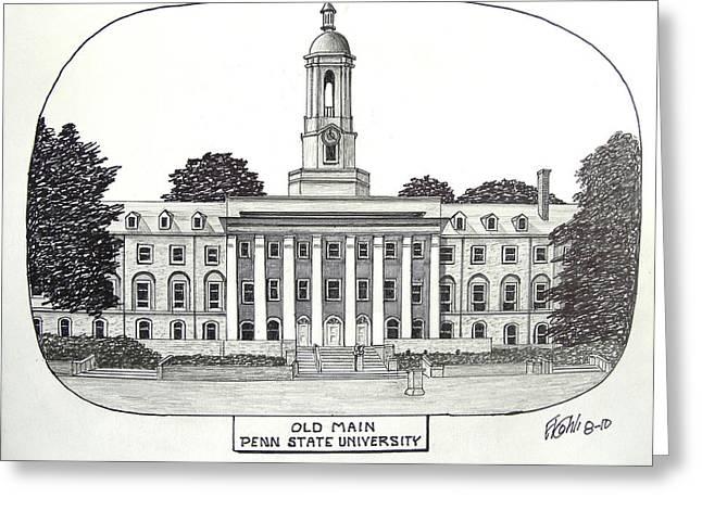 Penn State Greeting Card by Frederic Kohli
