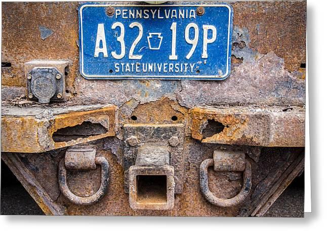 Penn State Maintenance Truck Greeting Card by Phillip Schafer