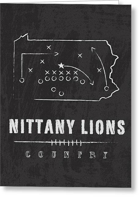 Penn State Nittany Lions County Greeting Card by Damon Gray