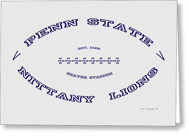 Penn State Nittany Lions Football Design With Transparent Background Greeting Card