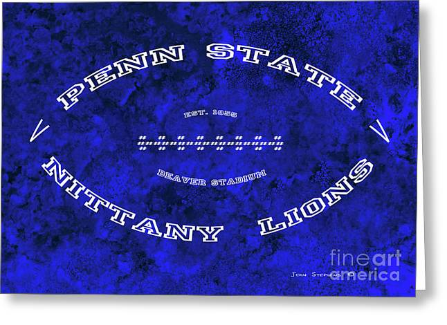 Penn State Nittany Lions Football Tribute Poster Vivid Blue Greeting Card