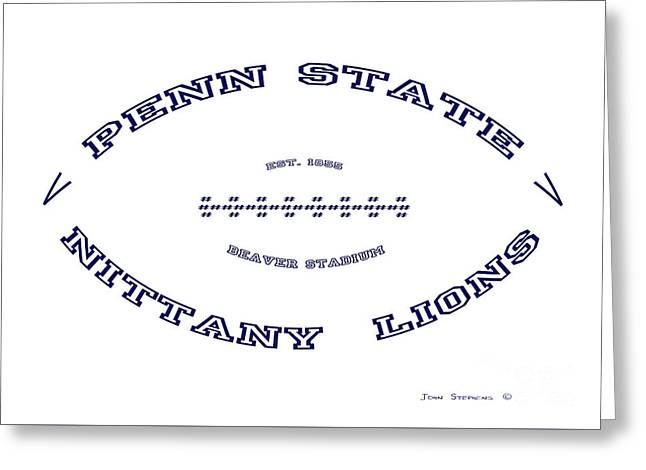 Penn State Nittany Lions Football White Out Poster Greeting Card