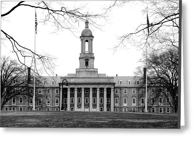Greeting Card featuring the photograph Penn State Old Main by Mary Beth Landis