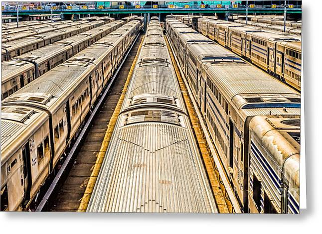 Penn Station Train Yard Greeting Card