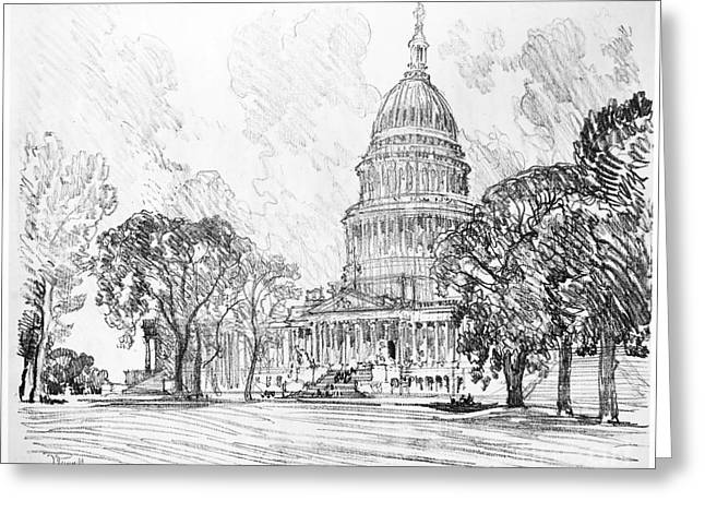 Pennell Capitol, 1912 Greeting Card by Granger