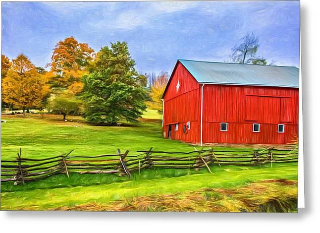 Pennsylvania Barn - Paint Greeting Card