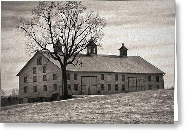 Greeting Card featuring the digital art Pennsylvania Barn by Robert Geary