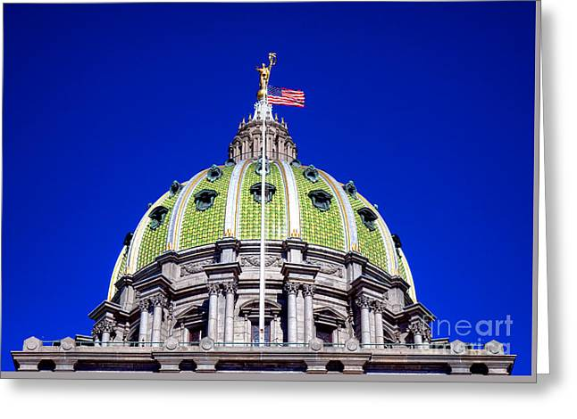 Pennsylvania Capitol Dome  Greeting Card by Olivier Le Queinec