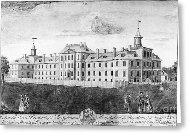 Pennsylvania Hospital, 1755 Greeting Card by Granger