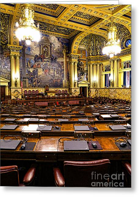 Pennsylvania House Of Representatives Greeting Card by Olivier Le Queinec