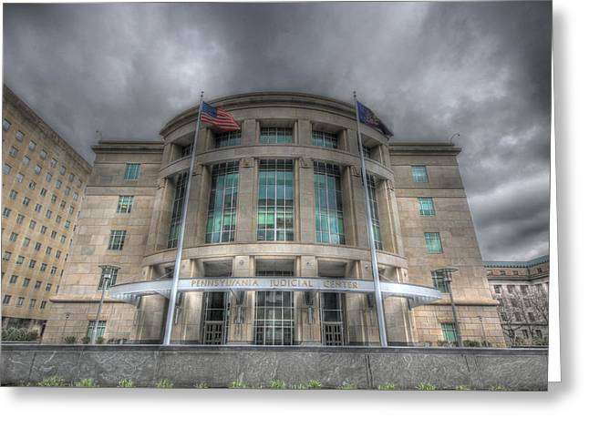 Pennsylvania Judicial Center Greeting Card by Shelley Neff