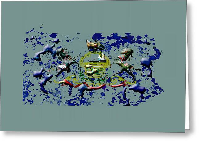 Pennsylvania Paint Splatter Greeting Card by Brian Reaves