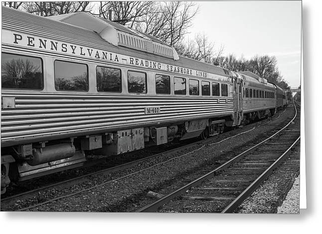 Pennsylvania Reading Seashore Lines Train Greeting Card