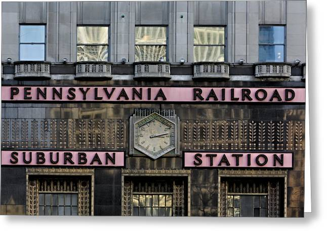 Pennsylvania Suburban Station -  Greeting Card by Susan Candelario