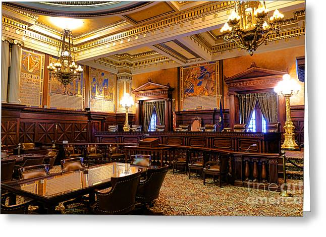 Pennsylvania Supreme Court  Greeting Card by Olivier Le Queinec