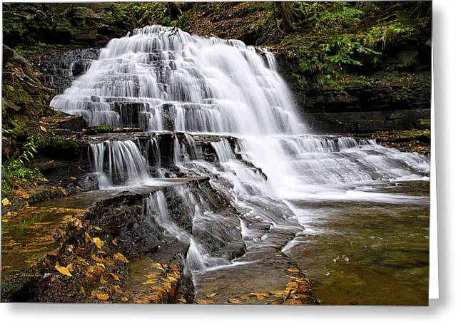 Greeting Card featuring the photograph Pennsylvania Waterfall by Christina Rollo