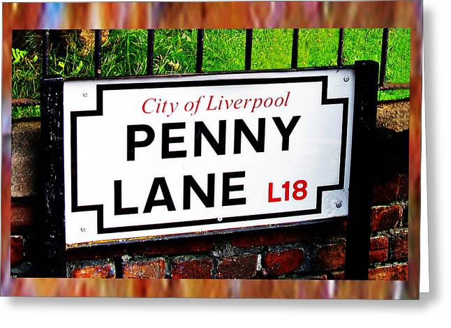 Penny Lane Liverpool England Sign Greeting Card