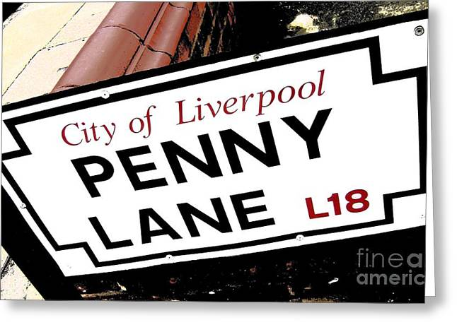 Penny Lane Sign Greeting Card