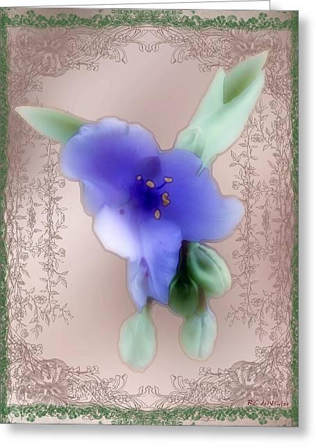 Penny Postcard Wildflower Greeting Card by RC DeWinter
