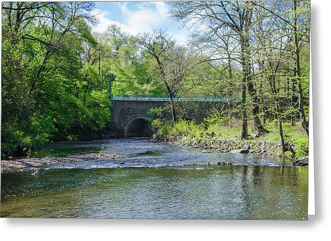 Pennypack Creek Bridge Built 1697 Greeting Card by Bill Cannon