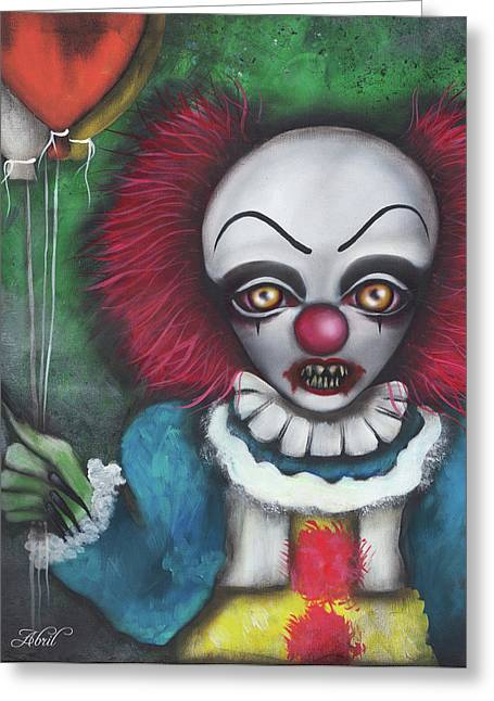 Pennywise Greeting Card by Abril Andrade Griffith