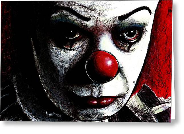Pennywise Greeting Card by Alycia Plank