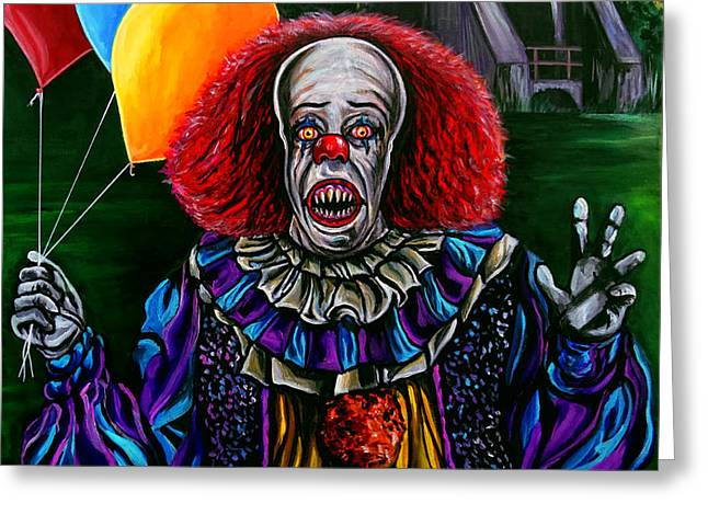 Pennywise It Greeting Card by Jose Mendez