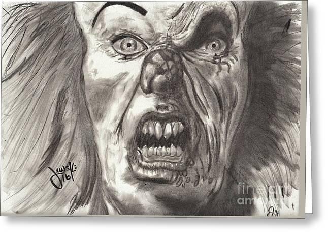 Pennywise The Clown Greeting Card by Michael Majewski