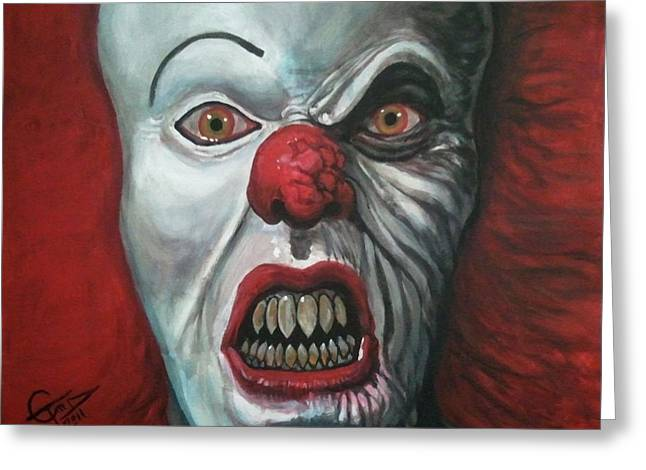 Pennywise Greeting Card by Tom Carlton