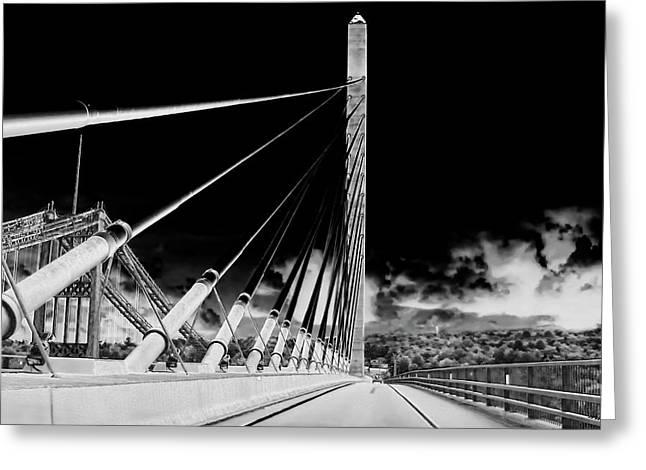 Penobscot Narrows Bridge In Infrared Greeting Card