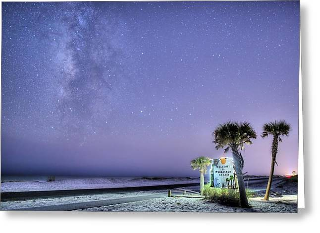 Pensacola Beach Nights Greeting Card by JC Findley