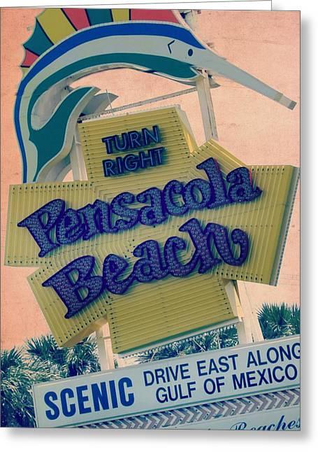 Pensacola Beach V2 Greeting Card by Brandi Fitzgerald