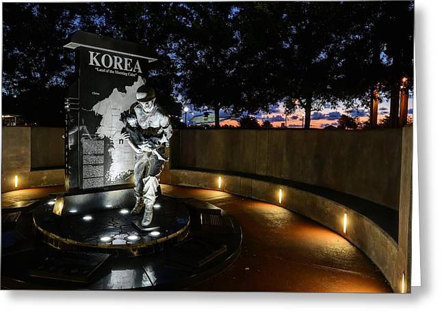 Pensacola Korean War Memorila Greeting Card by JC Findley