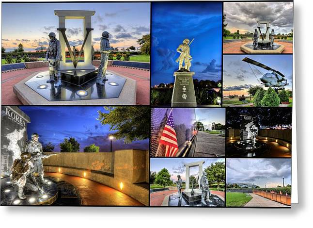 Pensacola Veterans Park Greeting Card by JC Findley