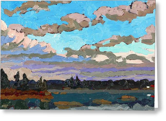 Pensive Clouds Greeting Card