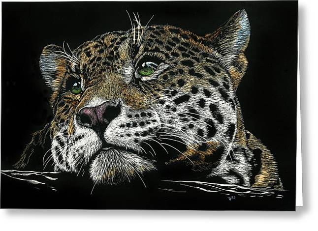 Pensive Leopard Greeting Card